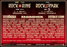 Rock am Ring 2017 Flyer
