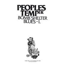Peoples Temper - Bomb Shelter Blues I, Cover